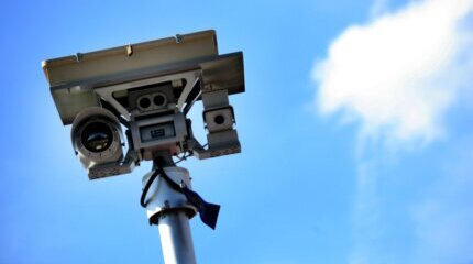 ATTENTION DRIVERS! Stationary cameras film us for