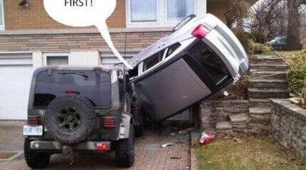 One of the most ridiculous explanations of drivers after an accident image