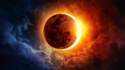 Today we can observe a solar eclipse image
