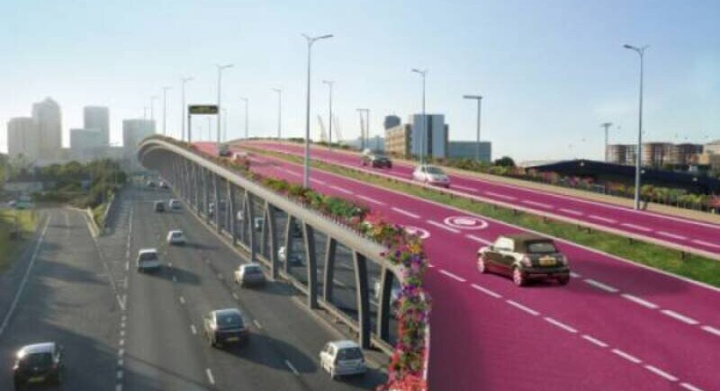 An insurer wants pink lanes on the roads only for female drivers image