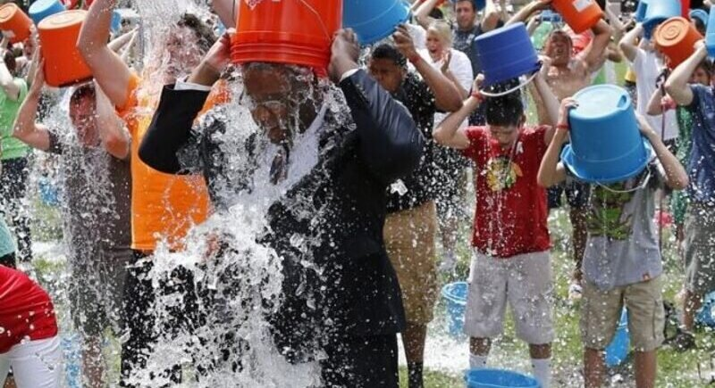 How much money did ALS raise from the ice water challenge? image